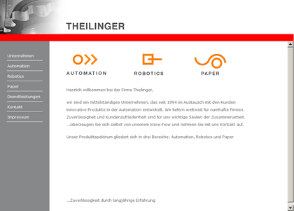 Website für Firma Theilinger